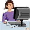 Bilgisayarda Çalışan Kız Çocuğu