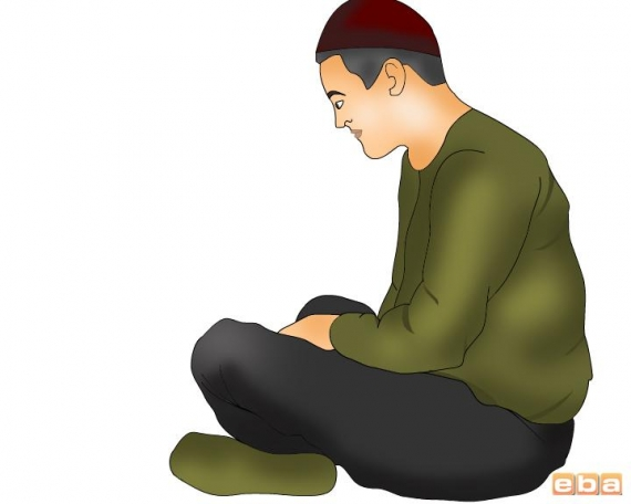 Oturan Adam Çizimi
