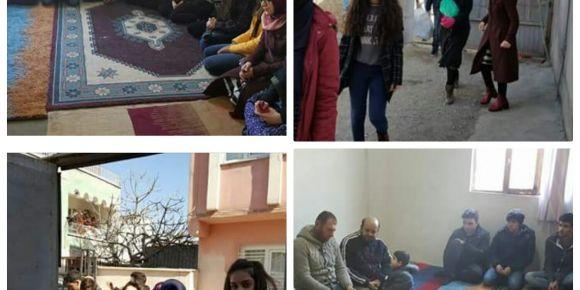 Adıyaman Anadolu Lisesi öğrencilerinden Suriyeli ailelere yardım