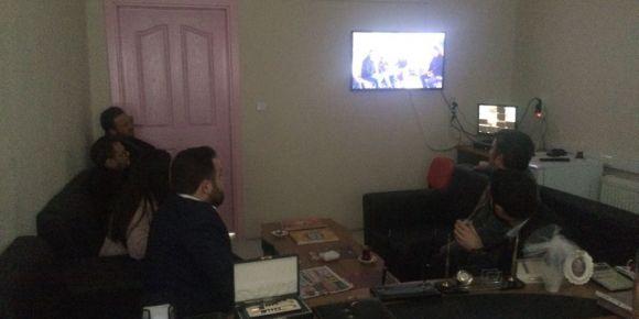İlçe Milli Eğitim Müdürümüz ile bağışlama filmimizi izledik