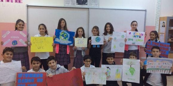 """Çekmeköy Alemdağ Ortaokulu e-twinning """"Save The Planet"""" projesi ortaklarından oldu"""