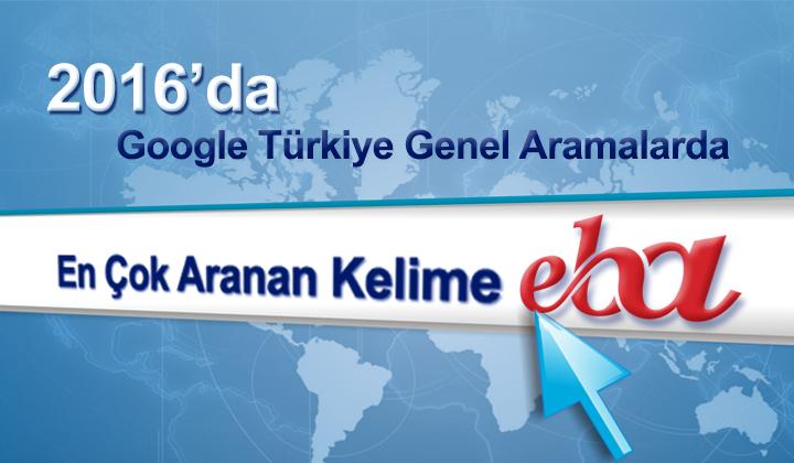 """EBA, """"Google 2016 Arama Trendleri"""" Türkiye sayfasında genel aramalarda birinci sırada"""