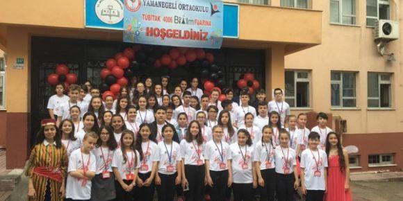 Yamanegeli Ortaokulu Tubitak 4006 Bilim Fuarı