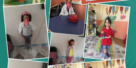 Hikayeleri kostümlerle canlandırma 100 güne 100 kitap eTwinin projesi
