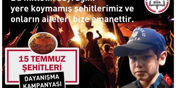 """Çanakkale Biga """"15 Temmuz Şehit Aileleri ve Gazilere Yardım Kampanyası"""" başlattı"""