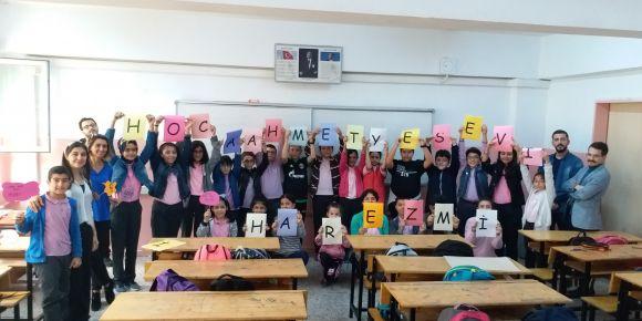 Hoca Ahmet Yesevi Ortaokulu Harezmi için çalışıyor