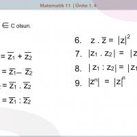 Karmaşık Sayılarda Modül ve Eşlenik İlişkileri - 3