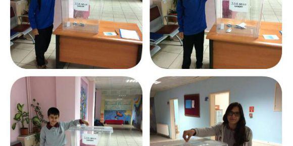 Batman Atatürk Ortaokulu'nda Okul Öğrenci Temsilcisi seçim heyecanı