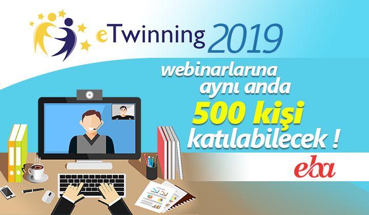 eTwinning 2019 Webinarlarına aynı anda 500 kişi katılabilecek!