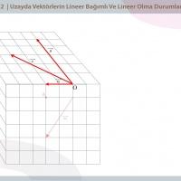 Uzayda Vektörlerin Linear Bağımlı ve Linear Bağımsız Olma Durumu