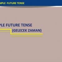 The Simple Future Tense (Gelecek Zaman)