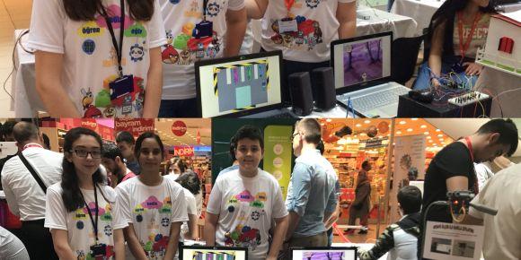 Atatürk Ortaokulu Robotik Kodlama Sergisinde