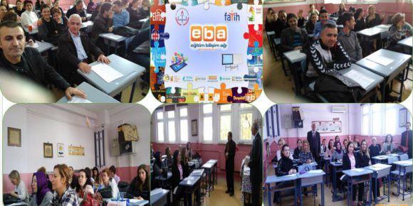 Bursa Yıldırım Davutkadı Eşref Evcil İlkokulu' da  EBA tanıtım semineri yapıldı