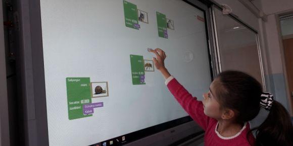 Destekleme yetiştirme kursu bilişim dersi kodlama etkinliğimiz