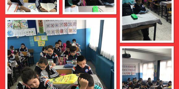 Bu Kitabı Birlikte Okuyalım projesinde okumaya doymayan çocuklar