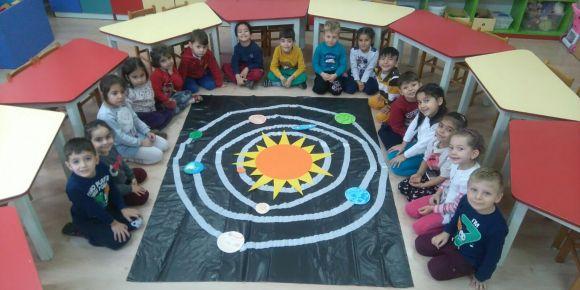 Miniklerimiz güneş sistemini öğreniyor