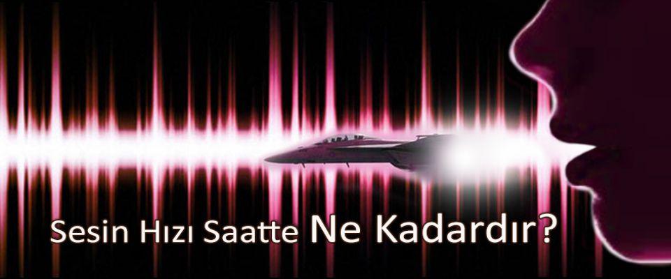 Sesin hızı