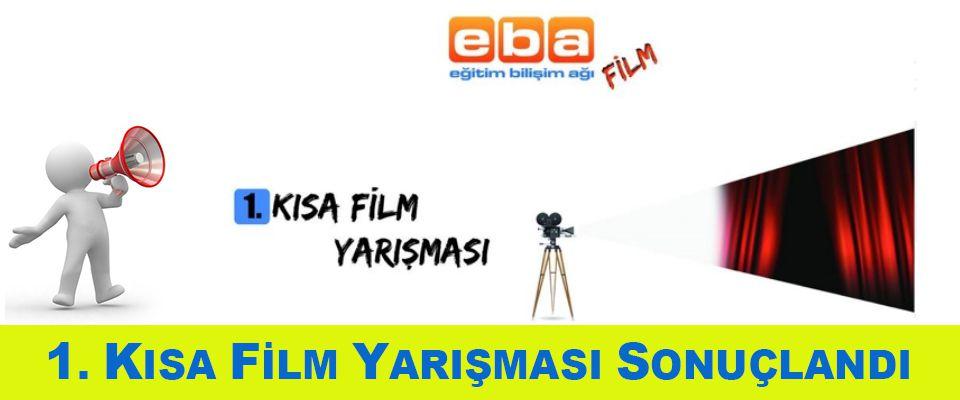 EBA Film - 1. Kısa Film Yarışması Sonuçlandı
