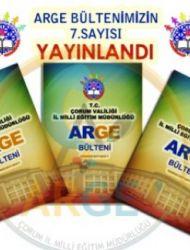 Çorum İl Milli Eğitim Müdürlüğü ARGE Bülteni 7. Sayısı Yayınlandı