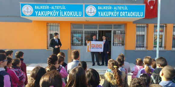 İlk EBA Bayrağı Yakupköy İlkokuluna verildi