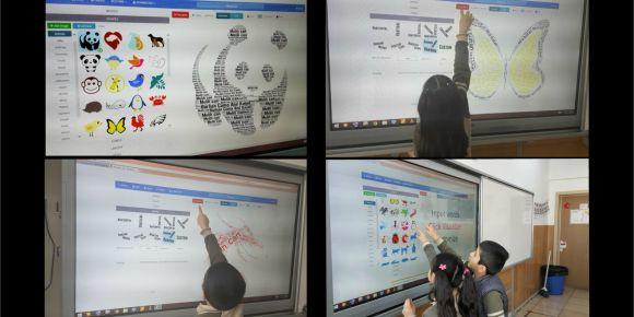 2 - D Sınıfı öğrencileri WordArt ile tanıştı