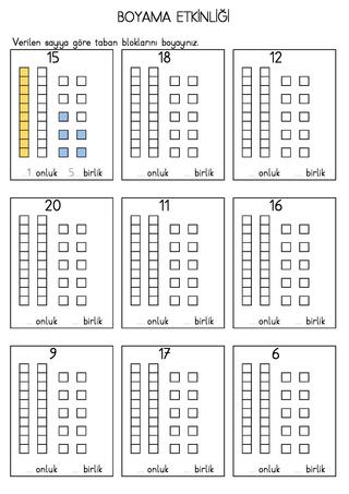 Onluk Taban Blokları Boyama Etkinliği