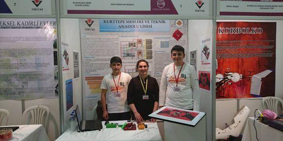 Tübitak araştırma projesi yarışması bölge sergisinde projemizi sergiledik