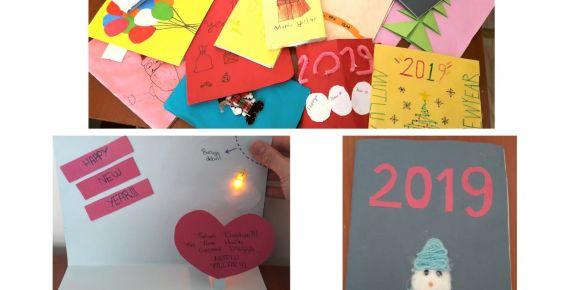 Led'li yeni yıl kartı hazırladık (eTwinning etkinliği)