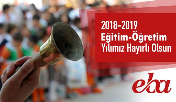 2018-2019 Eğitim Öğretim Yılımız Hayırlı Olsun