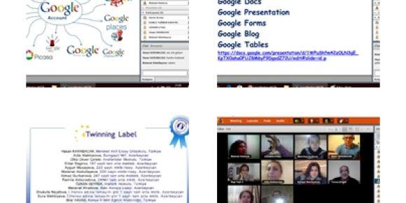 İki Devlet Bir Millet eğitim de web 2.00 araçları kullanımı e twinning projesi