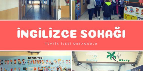 SAMSUN- Canik Tevfik İleri Ortaokulunda  İngilizce Koridoru açılışı