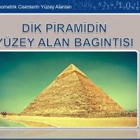 Dik Piramidin Yüzey Alan Bağıntısı