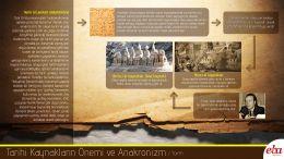 Tarihlendirmede yanılgı içinde bulunma demek olan anakronizm kavramı açıklanmaktadır. Tarihi kaynakların, tarih dersi ve bilimi için önemine vurgu yapılmaktadır.