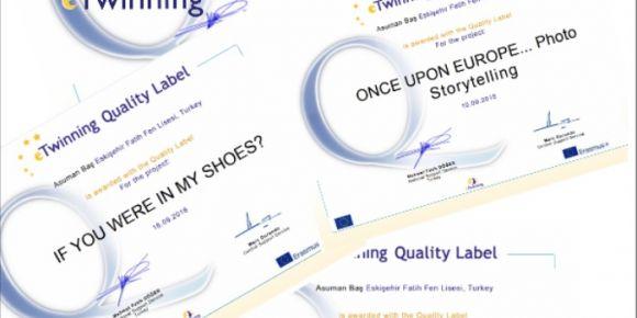 Fatih Fen Lisesi Etwinning Projeleri Ulusal Kalite Etiketleri
