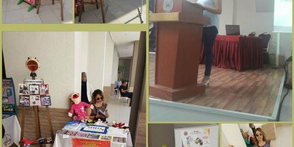 Hüseyin Ak İlkokulu Antalya il çalıştayında kuklam anlatıyor sergisi açtı