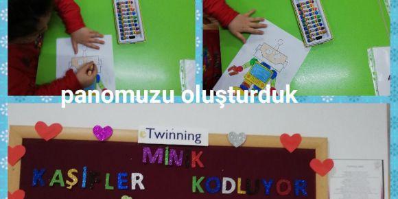 Cumhuriyet Nihat Arslan İlkokulu anasınıfı öğrencileri etwinning projesine katıldı