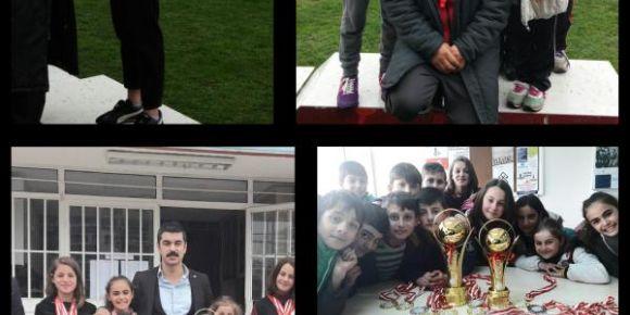 Küçük kızlar okullar arası puanlı atletizm Samsun il birincisi