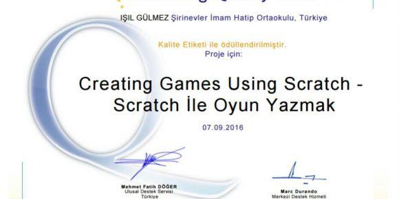Bursa / Yıldırım Şirinevler İmam Hatip Ortaokulu'nun ulusal kalite ödülü