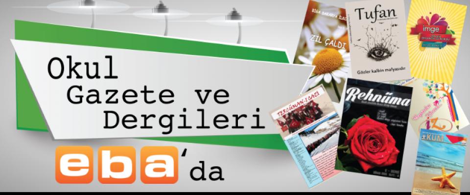 Okul dergi ve gazeteleri EBA da