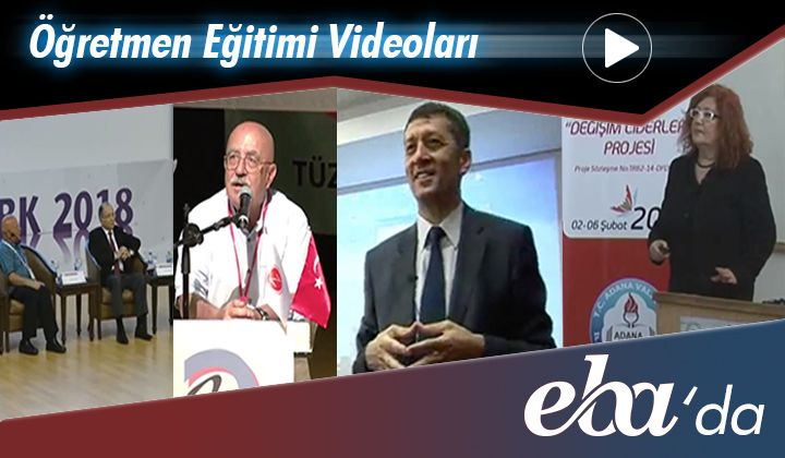 Öğretmen Eğitimi Videoları EBA'da