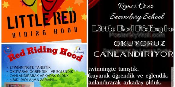 Okuyoruz Canlandırıyoruz eTwinning Projesi poster çalışması