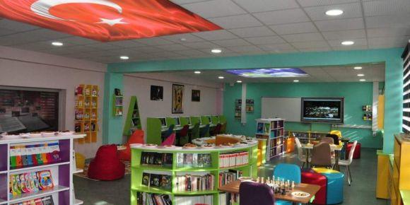 75.Yıl Cumhuriyet İlkokulu/Ortaokulu Z-kütüphanemiz açıldı