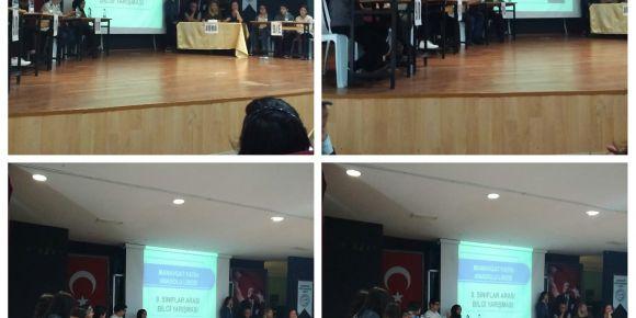 Okulumuzda sınıflar arası bilgi ve genel kültür yarışması yapıldı