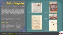 Divan edebiyatı nesir türlerinden biri olan Tarih - Vakayinâme ile ilgili hazırlanan doküman