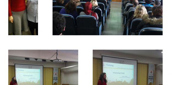 Nilüfer Dilek Özer Ortaokulunda E-twinning bilgilendirme toplantısı