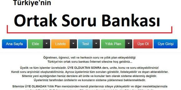 Türkiye'nin Ortak Soru Bankası açıldı