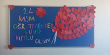 Didim Efeler Ortaokulu 6F sınıfı öğrencileri öğretmenlerini unutmadı