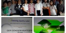 Adana/Çukurova İbn-i Sina Ortaokulu öğrencilerinin etwinning kalite etiketi sevinci