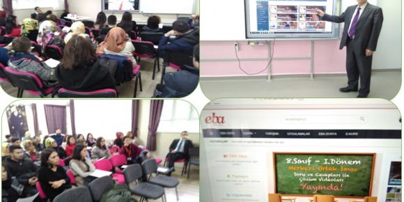 Yıldırım Rüveyde Dörtçelik Özel Eğitim Mesleki Eğitim Merkezinde EBA tanıtımı