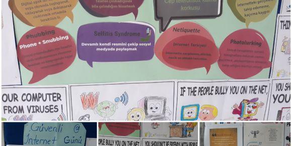 Şehit Ahmet Akyol İlkokulu güvenli internet konusunda bilinçleniyor